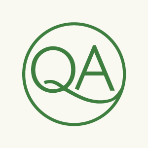 The Queer ADHD logomark—the letters q and a inside a circle—appears in green on a cream-colored background.