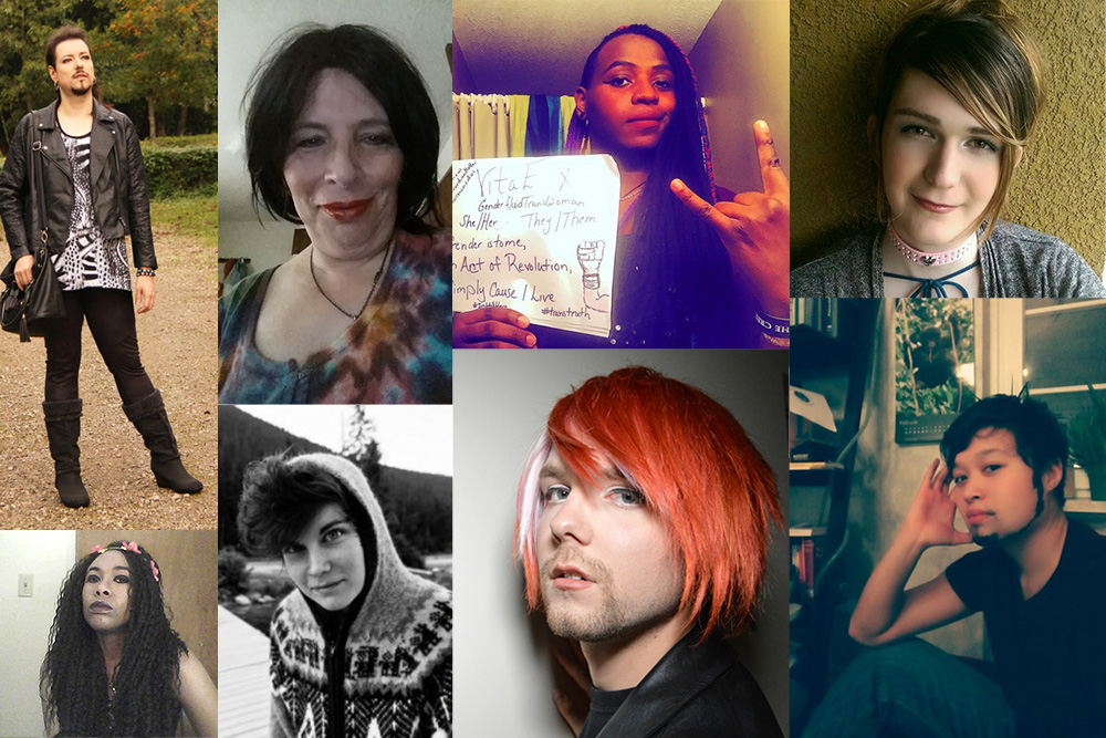 A collage of eight photos of individual people beautifully showcasing a range of gender expressions.